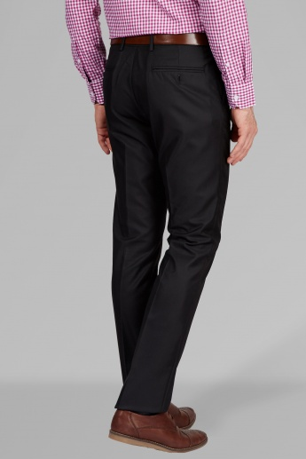 ARROW Solid Flat Front Slim Fit Trousers
