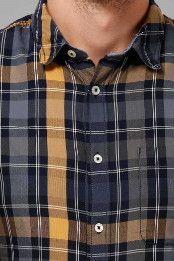 CELIO Plaid Checks Semi Formal Shirt