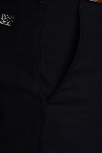 COLORPLUS Solid Formal Trousers