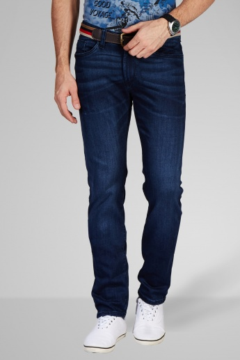 CELIO Whiskered Slim Fit Jeans