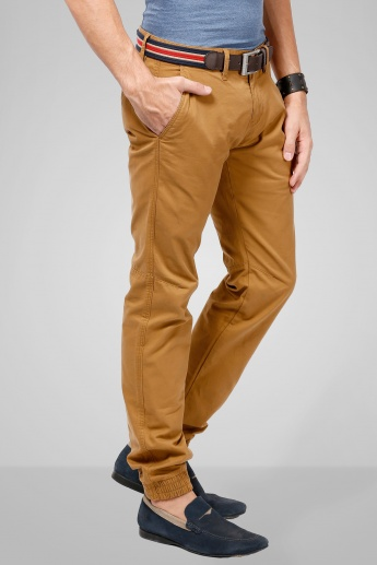 CELIO Solid Elasticated Ankle Pants