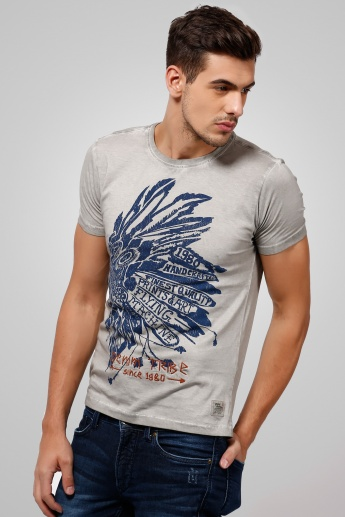 FLYING MACHINE Graphic Printed T-Shirt