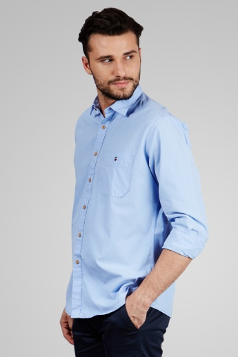 LP JEANS Solid Full Sleeves Shirt