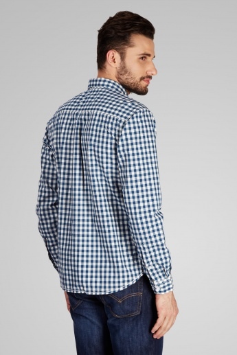 CODE Checked Spread Collar Full Sleeves Shirt