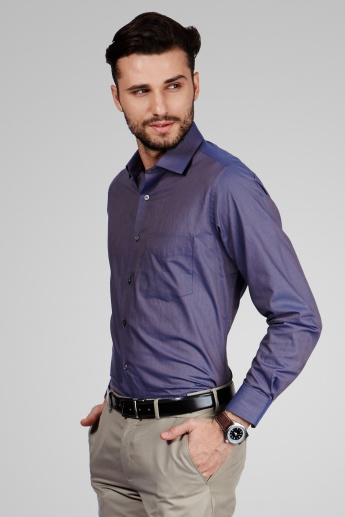 VAN HEUSEN Solid Full Sleeves Shirt