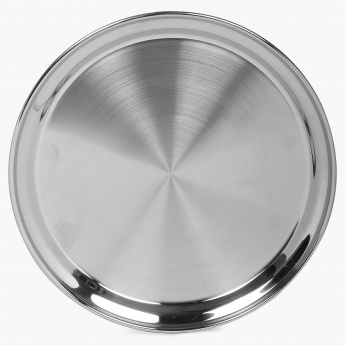 HOME CENTRE Stainless Steel Dinner Plate