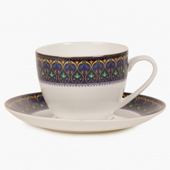 HOME CENTRE Sapphire Cup And Saucer Set- 8 Pcs.