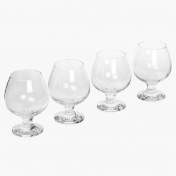 HOME CENTRE Abigail Brandy Glass Set- 4 Pcs.