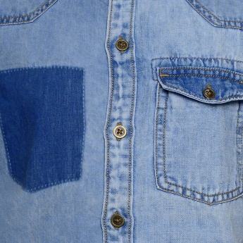 JUNIORS Chest Pocket Denim Shirt
