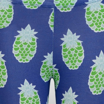 JUNIORS Pineapple Print Leggings