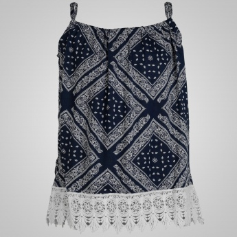 JUNIORS Boho Chic Strappy Top