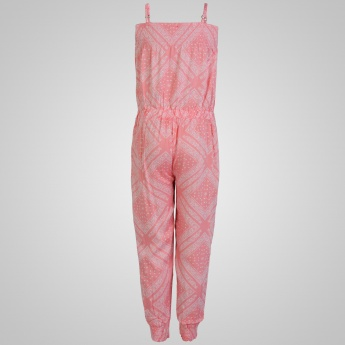 JUNIORS Printed Strappy Jumpsuit