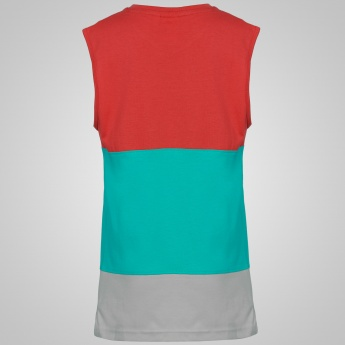 SMILEY WORLD Crew Neck Sleeveless T-Shirt