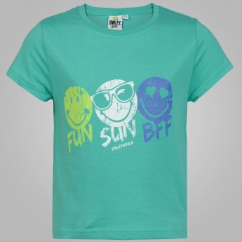 SMILEY WORLD Funky Print T-Shirt