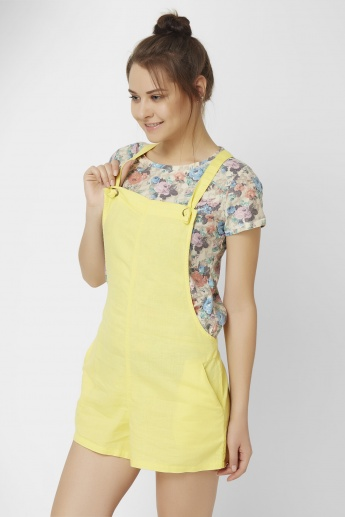 GINGER Solid Playful Dungarees