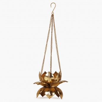 HOME CENTRE Majestic Hanging Lotus Candle Holder