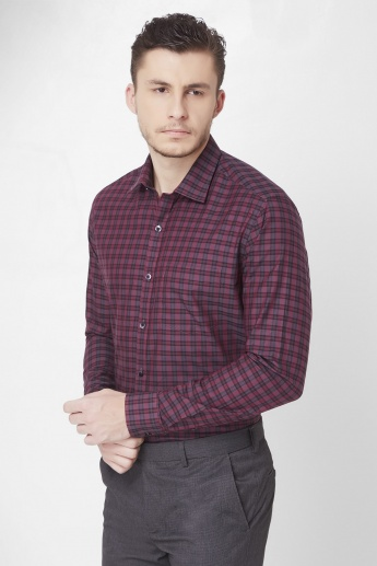 CODE Checks Print Full Sleeves Shirt