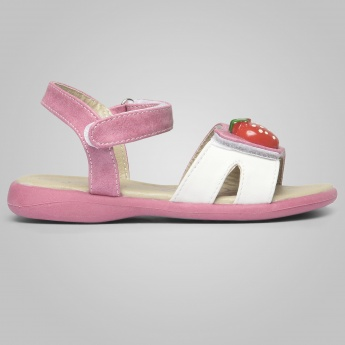 JUNIORS Strawberry Studded Back Lock Sandals