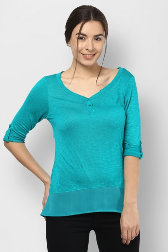 BOSSINI Roll-Up Sleeves Top