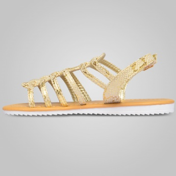 JUNIORS Snake Printed Gladiator Sandals