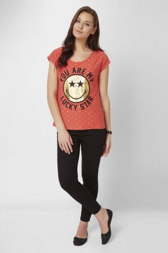 SMILEY WORLD Lucky Star Top