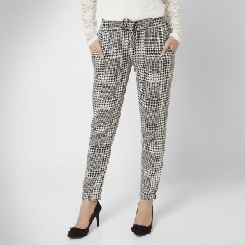 GINGER Houndstooth Print Pants