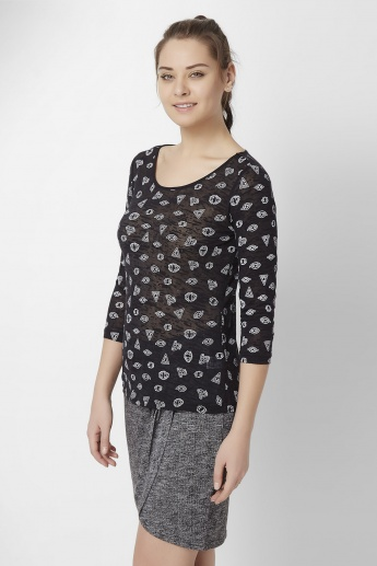 GINGER Quirky Doodles Top