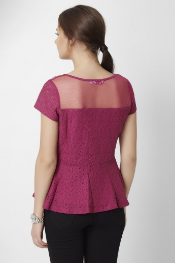 GINGER Queenly Peplum Top