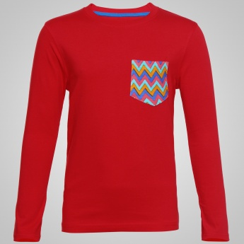 JUNIORS Patch Pocket Sweater