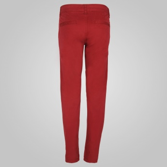 JUNIORS Flat Front Pants
