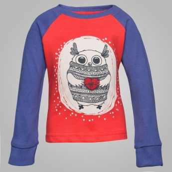 JUNIORS Own Print Raglan Sleeves T-Shirt