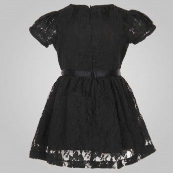 JUNIORS Lacy Bow Dress