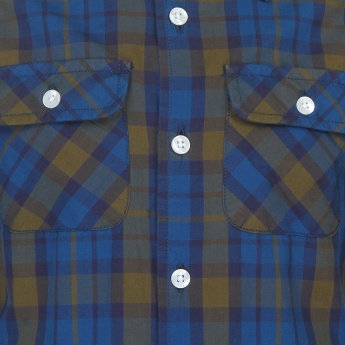 BOSSINI Plaid Checks Full Sleeves Shirt