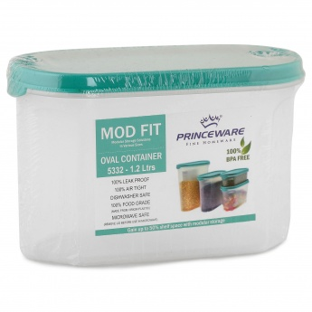 HOME CENTRE Mod Fit Teal Container-1.2 Ltr