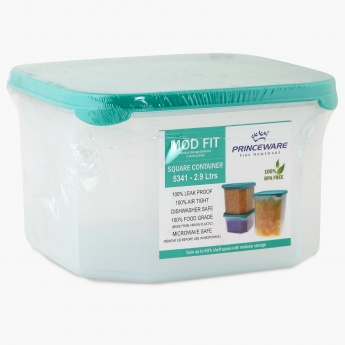 HOME CENTRE Mod Fit Teal Container-2.89 Ltr