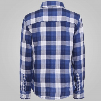 JUNIORS Checks Printed Full Sleeves Shirt