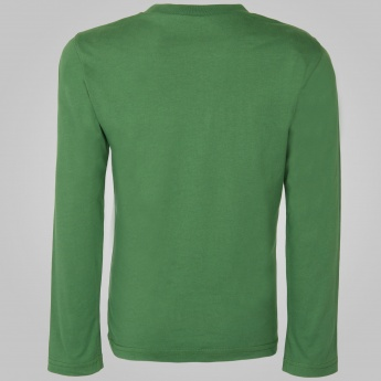 UNITED COLORS OF BENETTON Printed Full Sleeves T-Shirt
