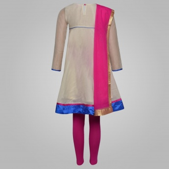 BIBA Anarkali Kurti Churtidar Set