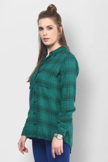 ONLY Checks Print Full Sleeves Shirt