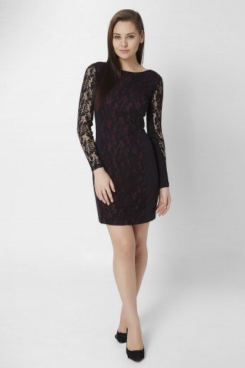 ONLY Back Zipper Lace Dress