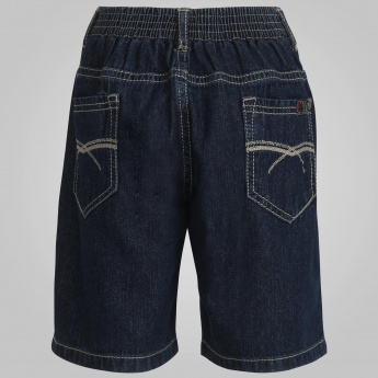 GINI & JONY Solid Denim Shorts