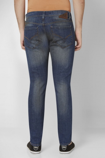 FLYING MACHINE Faded Slim Tapered Fit Jeans