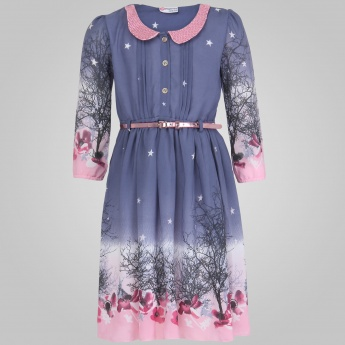 PEPPERMINT Peter Pan Collar Belted Dress