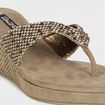 RAW HIDE Woven Strap Sandals