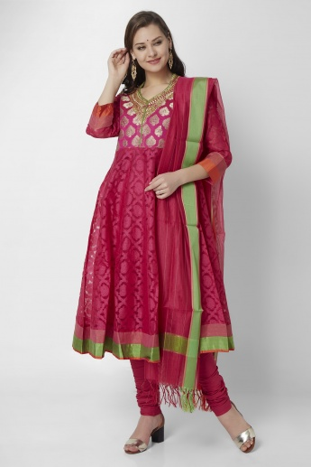 BIBA Brocade Upper Anarkali Suit