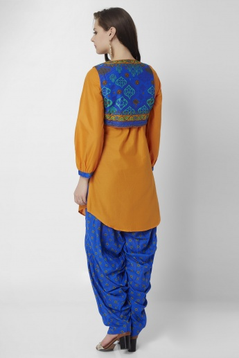 BIBA Pin-tuck Detailing Balloon Sleeves Kurti