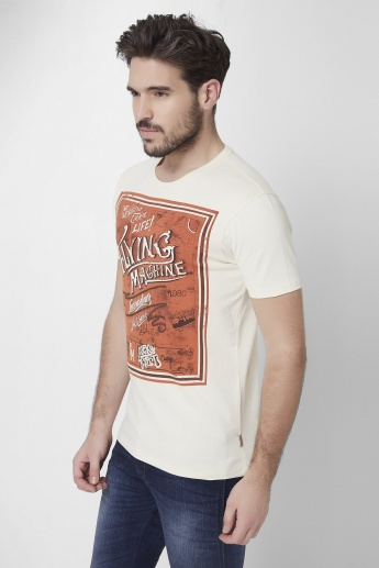 FLYING MACHINE Printed Half Sleeves T-Shirt