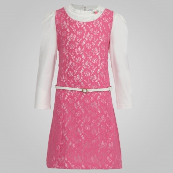 PEPPERMINT Lacy Collar Inner & Pinafore Dress