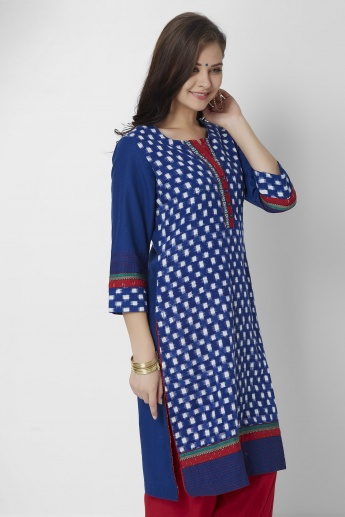 BIBA 3/4th Sleeves Kurti