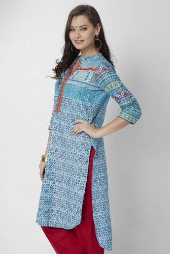 BIBA High Low Curved Hem Kurti
